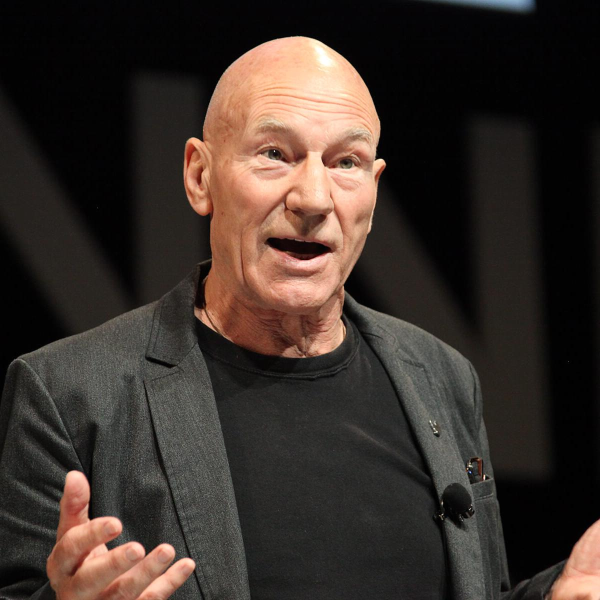 Portrait of English actor Sir Patrick Stewart by Julian Hanford at Cannes Lions 2017