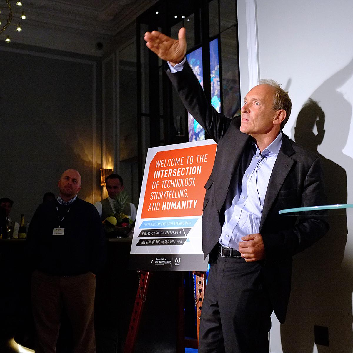 Portrait of Sir Tim Berners-Lee for client Sapient Nitro by Julian Hanford