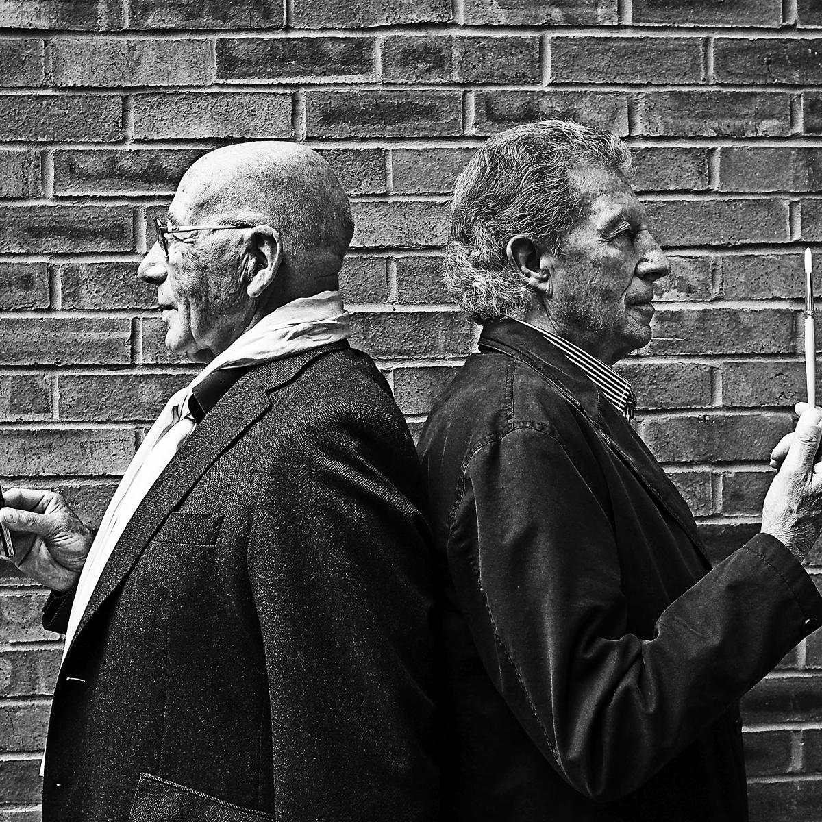 Portrait of Tony Brignull and Neil Godfrey by Fine Art Photographer Julian Hanford, London