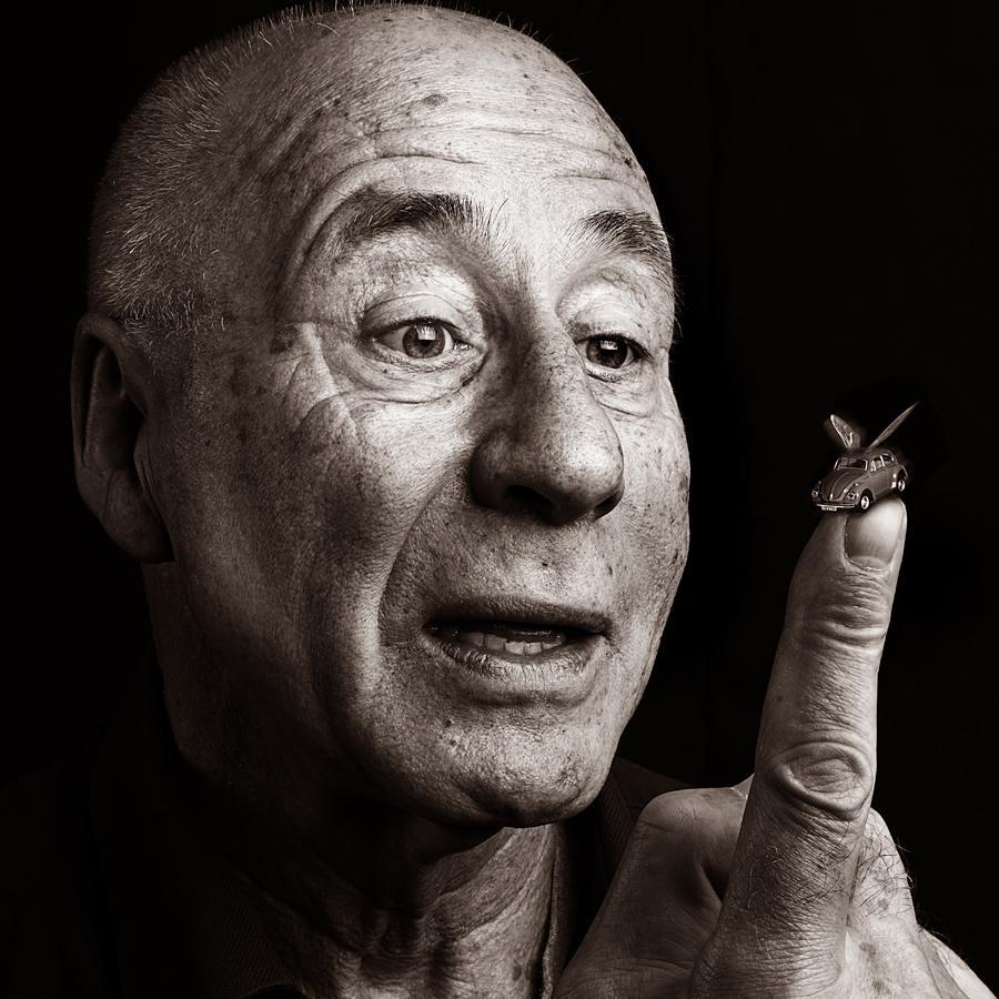 Portrait of Tony Brignull, Award Winning Advertising Copywriter by Julian Hanford
