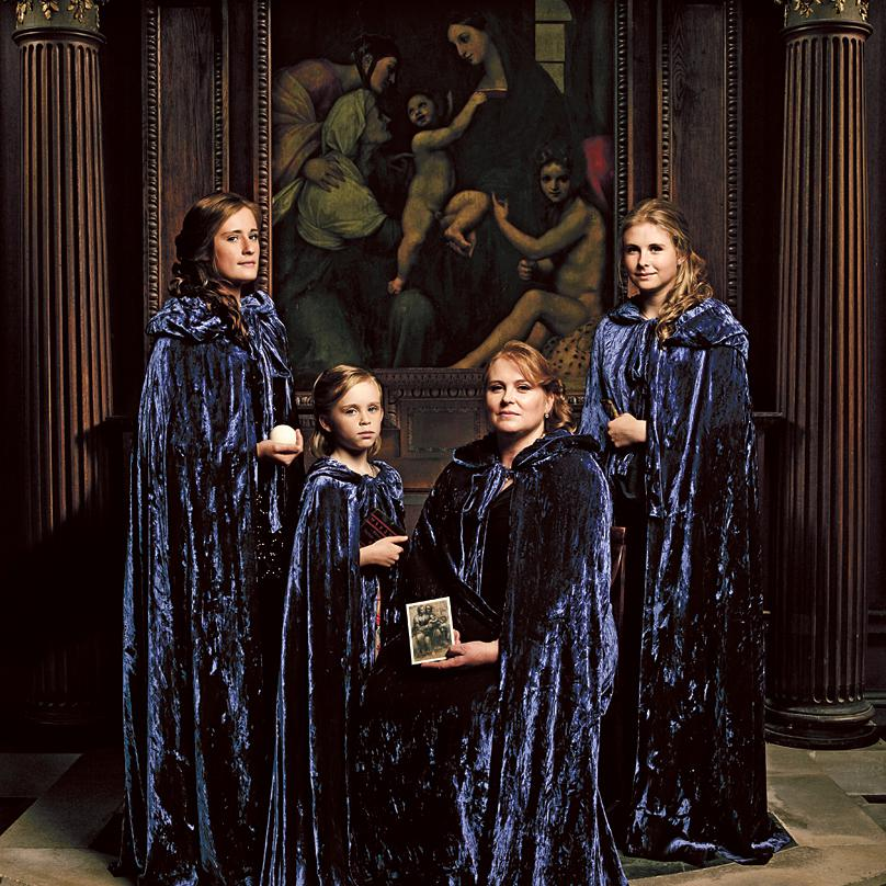 Portrait of the Young Family - a private commission by Fine Art Photographer, Julian Hanford