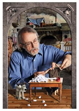 Peter Lord and Nick Park of Aardman Animations (Portrait by Julian Hanford)