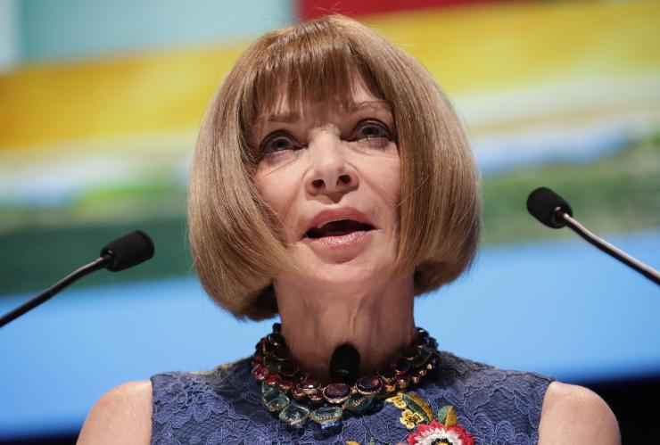 Portrait of Anna Wintour by Julian Hanford