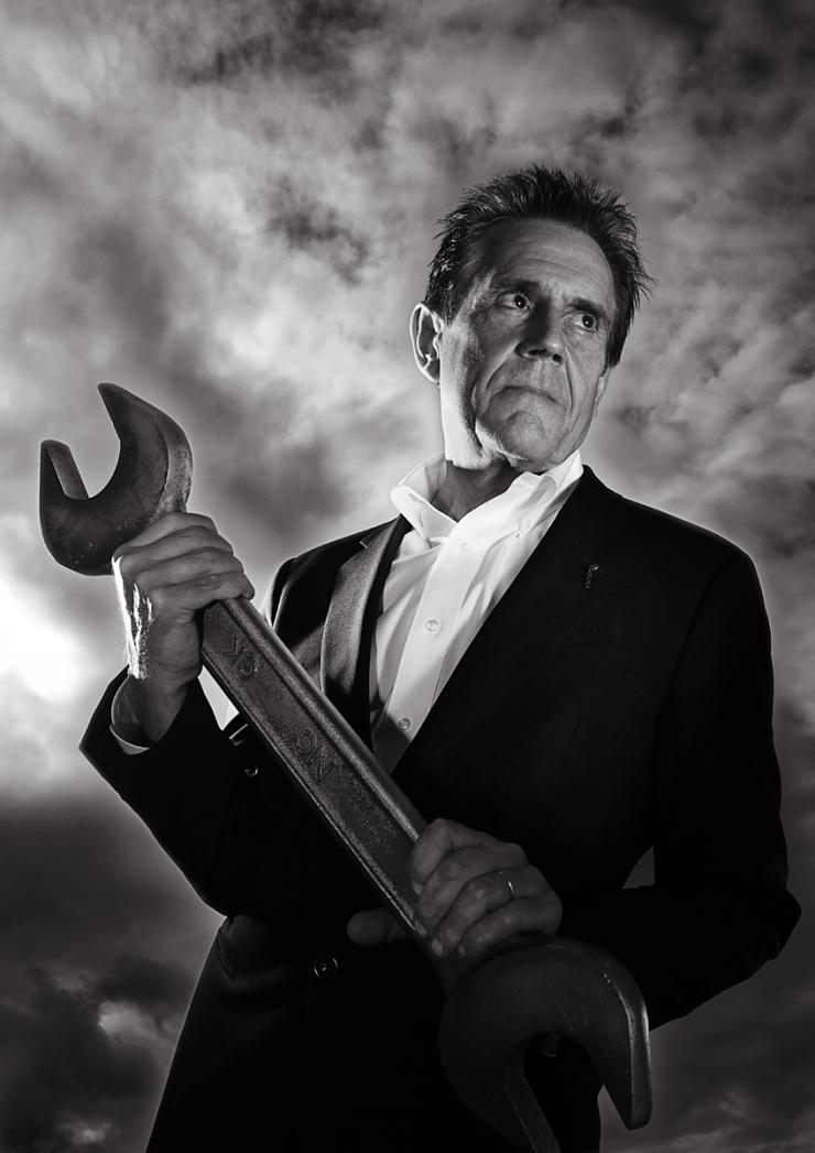 Portrait of Dave Trott by Julian Hanford
