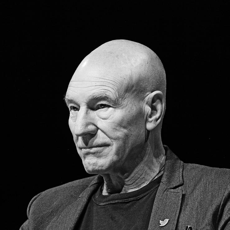 Portrait of Sir Patrick Stewart by Julian Hanford